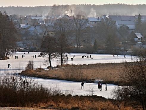 winter pond led