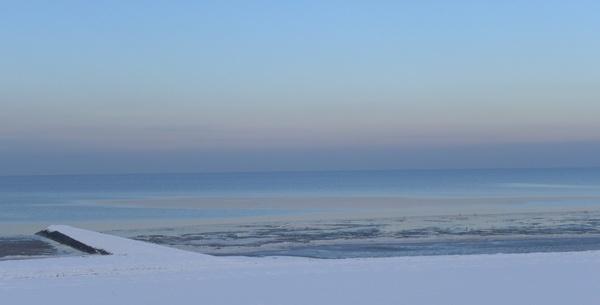 winter sea snow