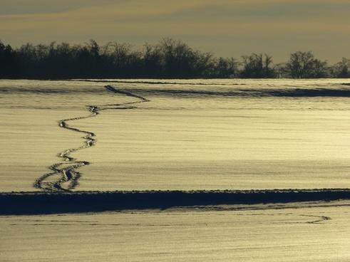 winter snow traces