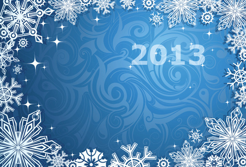 winter snowflake backgrounds art design vector