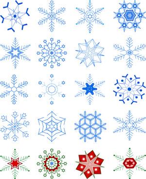 winter snowflakes pattern design vector graphics