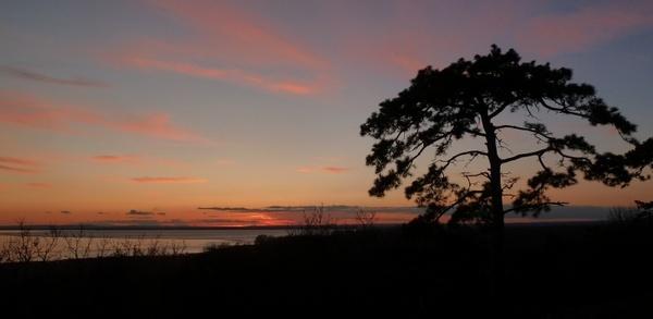 winter sunset lake balaton