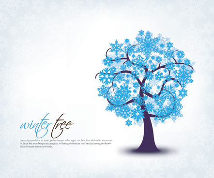 winter tree vector graphic