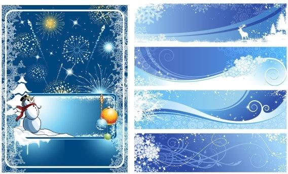 winter vector background
