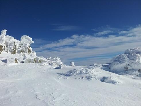winter winter magic blue sky