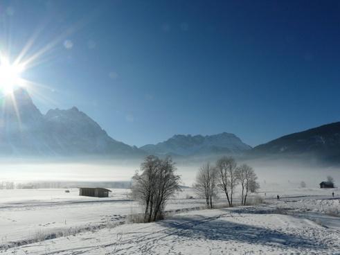 wintry mountains austria