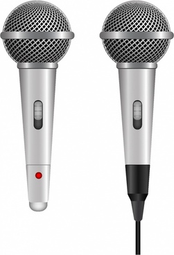 wire and wireless vocal microphone