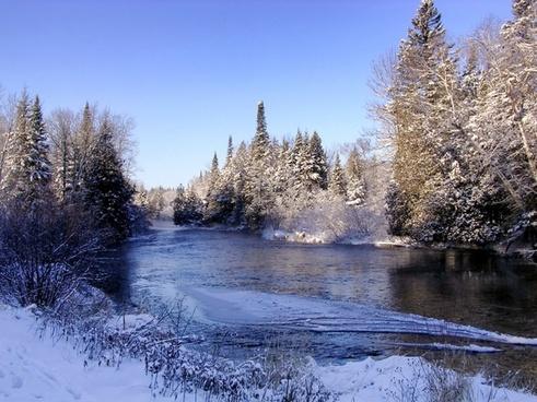 wisconsin namekagon river winter