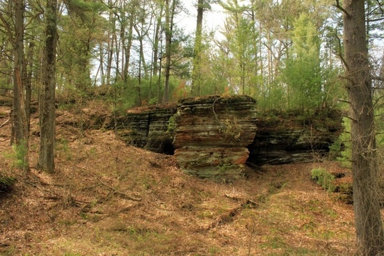 wisconsin rocky arbor state park rock outcropping