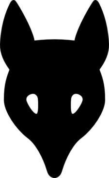 Wolf Head Silhouette clip art