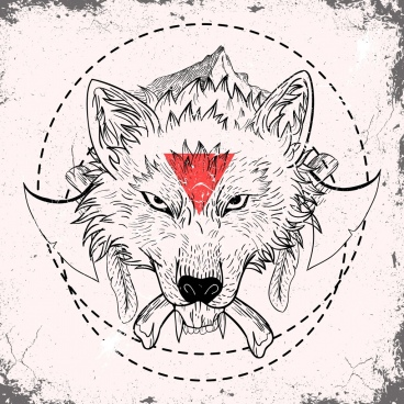 wolf tattoo template classical decor