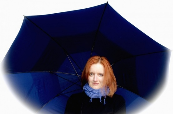 woman and umbrella