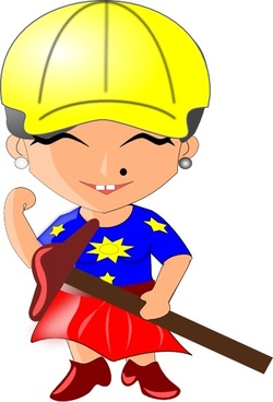 Woman Architect clip art