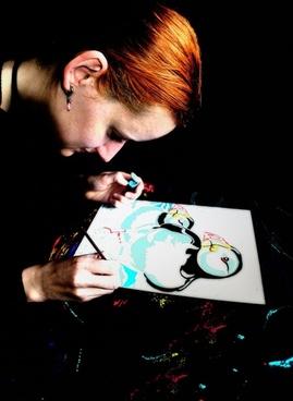 woman art people