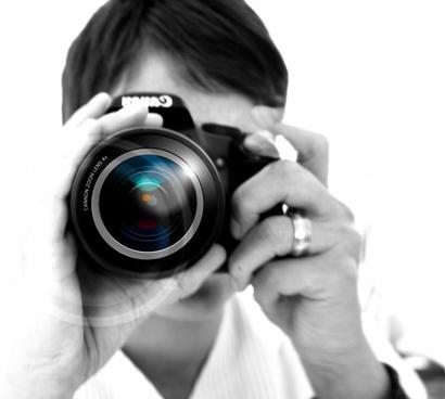 woman camera hand