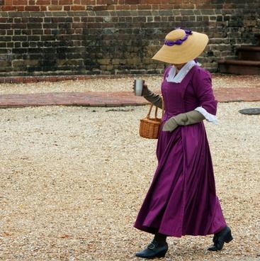 woman costume reenactor