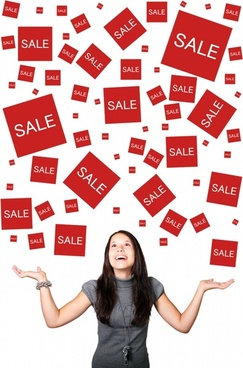 woman enjoying sales