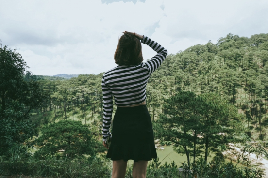 woman enjoying scenery