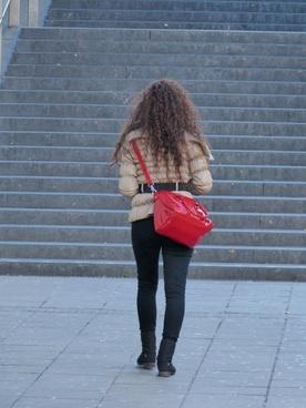 woman girl bag