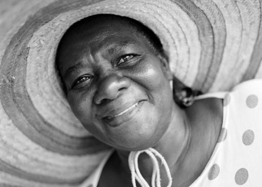 woman hat smiling
