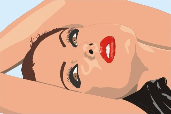 Woman Laying Down With Lipstick clip art