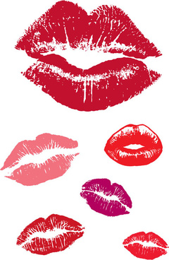 woman lips vector