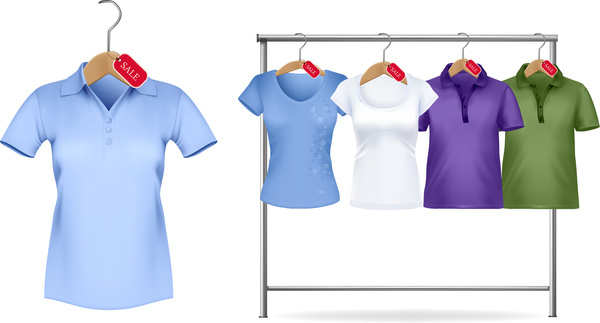 woman polo shirt sale on hanger