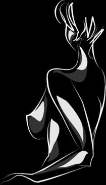 woman sexy design elements vector