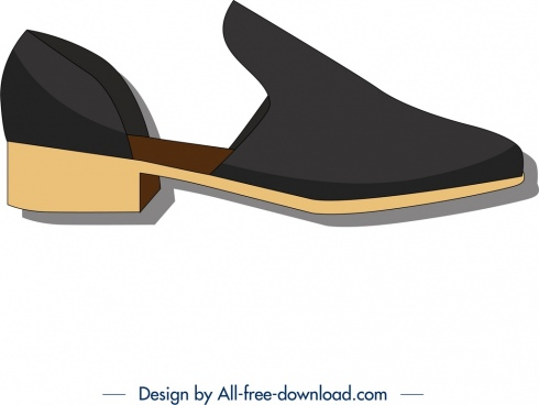 woman shoe template modern 3d design