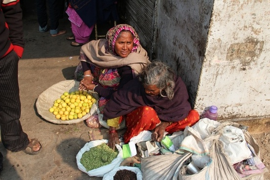 woman shop assistant market