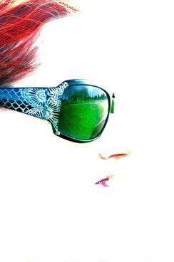 woman sunglasses reflection