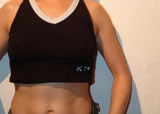 woman t shirt upper body