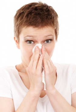 woman with a cold or allergy