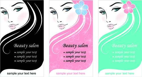 woman with beauty salon vector