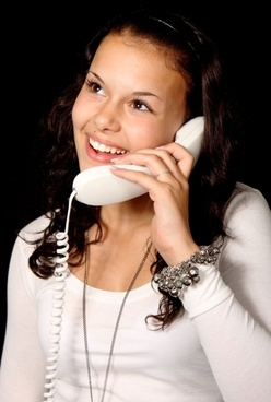 woman with phone smiling