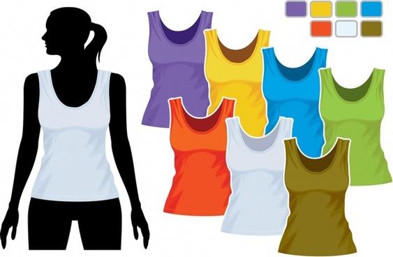 women39s clothing vest sweatshirt template vector