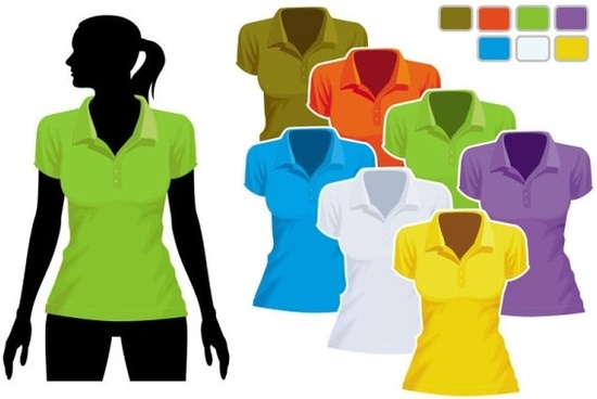 women39s tshirt template 01 vector