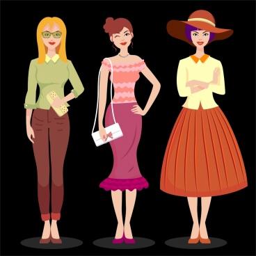 women fashion icons office costume accessories decor