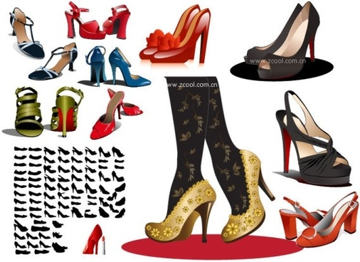 women high heels vector