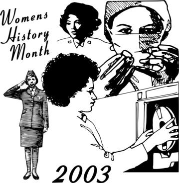 Women History Month clip art