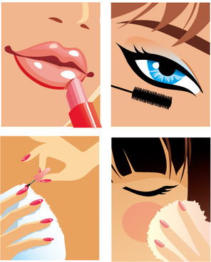 women make up vector