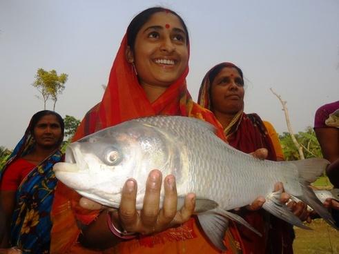 women operated aquaculture