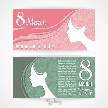 womens day banner set