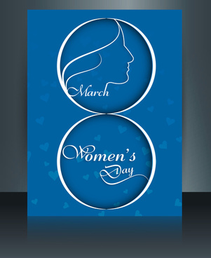 womens day card brochure template reflection design colorful vector