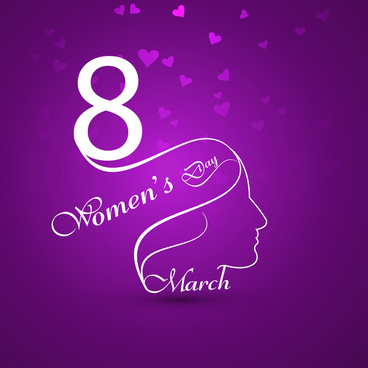 womens day colorful card presentation vector background illustration