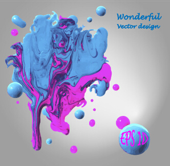 wonderful oil paint art background vector