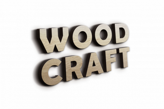 wood 3d text effect