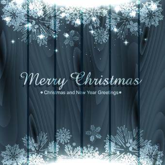 wood and snowflake christmas background