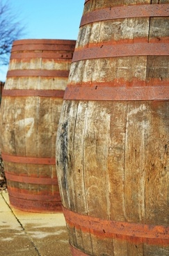 wood barrels containers