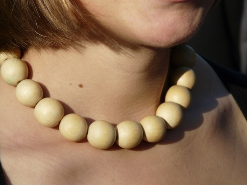 wood chain necklace chain